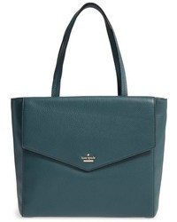 New york spencer court archie leather tote green medium 844692