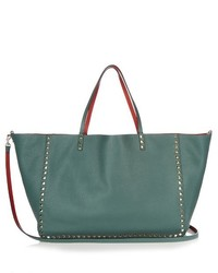 Valentino Rockstud Double Reversible Leather Tote