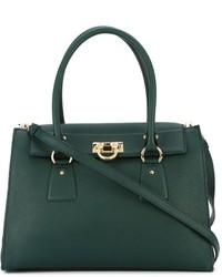 e8ad6a568667 Women s Dark Green Leather Tote Bags by Salvatore Ferragamo ...