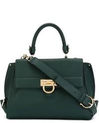 1e24a649d5c4 Women s Dark Green Leather Tote Bags by Salvatore Ferragamo ...