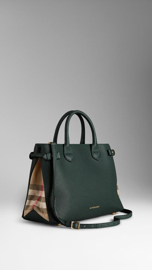 ab170e3165 ... Bags Burberry The Medium Banner In Leather And House Check ...