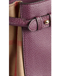 ... Burberry The Small Banner In Leather And House Check ... 7bb9cba49519e