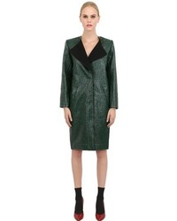 Faux leather coat medium 378268