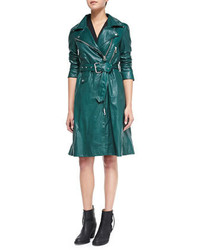 Fit flare leather trenchcoat medium 194577