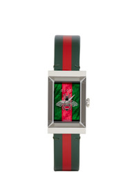 Gucci Green And Red G Frame Watch