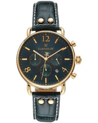 Thomas Earnshaw Investigator Leather Chronograph Watch