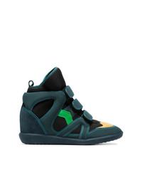 c31d101075bf Dark Green Wedge Sneakers for Women