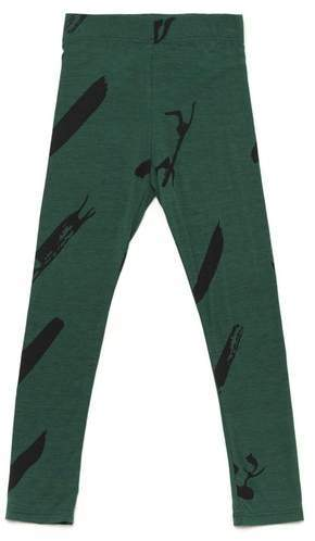 Omamimini Omamimini Leggings With Print Pine Green