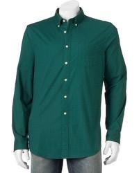 Big Tall Sonoma Goods For Lifetm Slim Fit Plaid Poplin Stretch Button Down Shirt