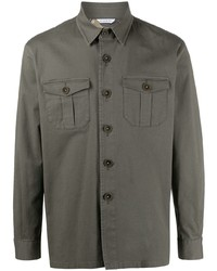Manuel Ritz Camouflage Lining Button Up Shirt