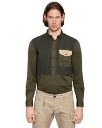 DSquared Stretch Cotton Drill Shirt
