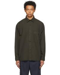 Mhl By Margaret Howell Green Oversized Work Shirt