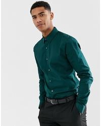 c1546d0f Men's Dark Green Long Sleeve Shirts from Asos | Men's Fashion ...
