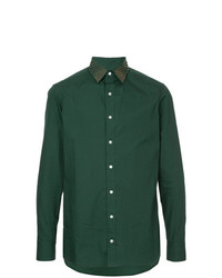 Kolor Stud Collar Fitted Shirt