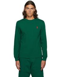 AMI Alexandre Mattiussi Green Ami De Cur Long Sleeve T Shirt