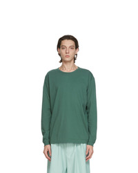 Issey Miyake Men Green Cotton Long Sleeve T Shirt