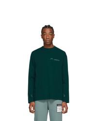 A-Cold-Wall* Green Logo Long Sleeve T Shirt