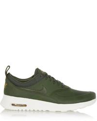 Dark Green Low Top Sneakers