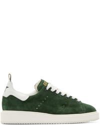 Golden Goose Deluxe Brand Golden Goose Green Suede Low Top Starter Sneakers