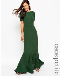 Jarlo kelly maxi dress with cap sleeve and lace insert jeans