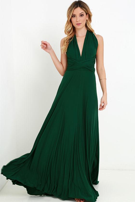 Dark Green Prom Dress Lulus