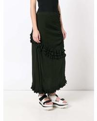 Marni Ruched Ruffled Skirt