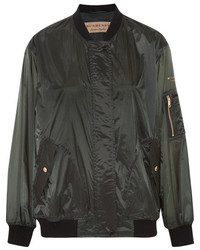 Burberry Shell Bomber Jacket Army Green