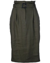Burberry London Straight Knee Length Skirt