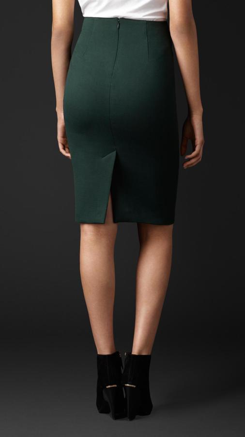 f16a2eccaa727e Burberry Stretch Virgin Wool Pencil Skirt, $995 | Burberry ...
