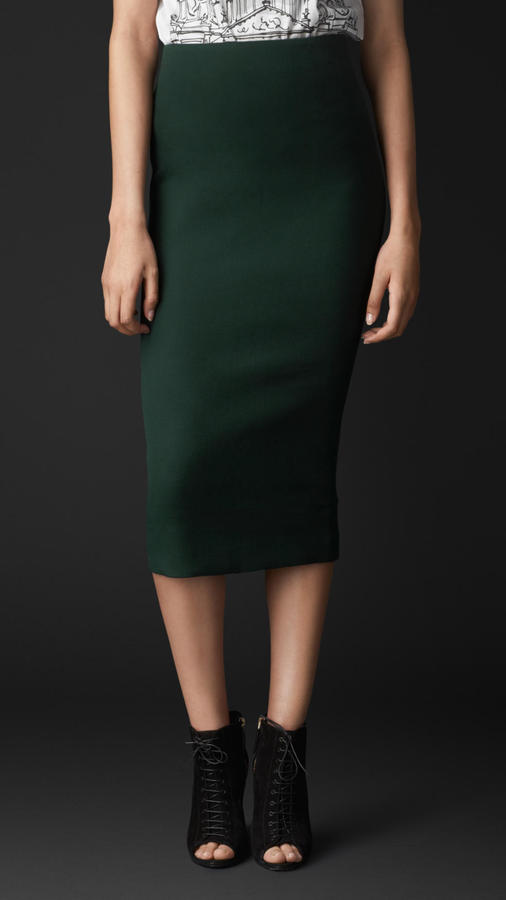 Burberry Stretch Virgin Wool Pencil Skirt | Where to buy & how to wear