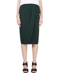 Burberry Prorsum Forest Green Tulip Skirt