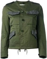 Dark Green Military Jacket