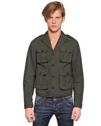 DSquared Wired Cotton Military Bomber Jacket