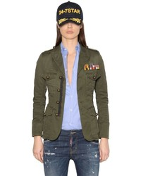 Dsquared2 Cotton Canvas Military Jacket