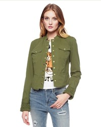 Juicy couture military twill jacket medium 681061