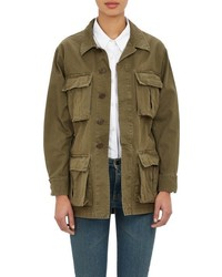 Saint Laurent Military Jacket Green