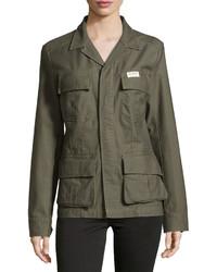True Religion Vintage Military Jacket Platoon Green