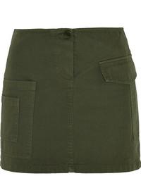 Band Of Outsiders Cotton Twill Mini Skirt