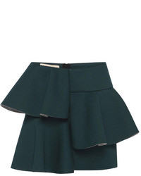 Marni Dark Green Bonded Jersey Mini Skirt