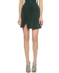 jwanderson forest green pilled wool mini skirt where to buy