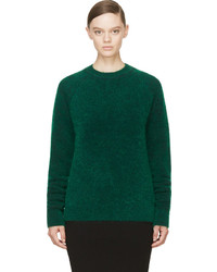 Green wool and mohair sweater medium 620451