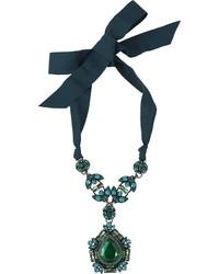Lanvin Icon Crystal Pendant Necklace