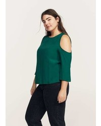 Violeta BY MANGO Flowy Off Shoulder Blouse