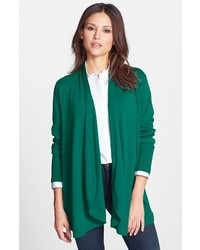 Dark Green Open Cardigan