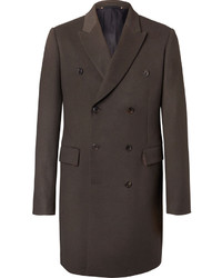 Paul Smith Double Breasted Wool And Cashmere Blend Coat