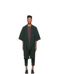 Homme Plissé Issey Miyake Green Kimono Coat