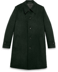 Gucci Loden Single Breasted Coat