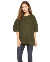 Dark Green Oversized Sweater