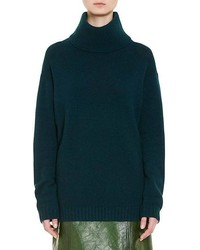 Wool cashmere oversized turtleneck sweater medium 6860897