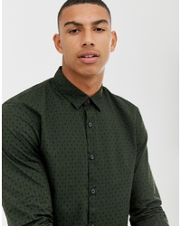 Tom Tailor Slim Fit Paisley Print Shirt In Green